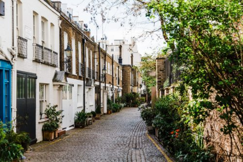 a old street with houses in United Kingdom